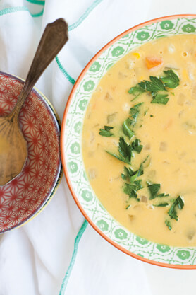 Chamomile Corn Chowder Recipe
