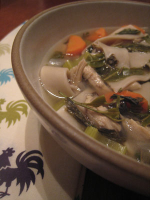 Dragonwell Green Tea Chicken Noodle Soup Recipe
